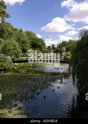 Bibury Gloucestershire in the Cotswolds famous trout stream and farm - Stock Photo