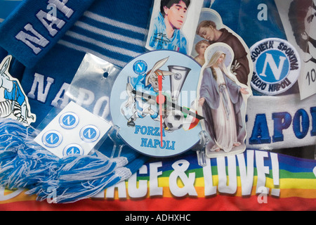 Napoli Football Club Memorabilia Naples Italy - Stock Photo
