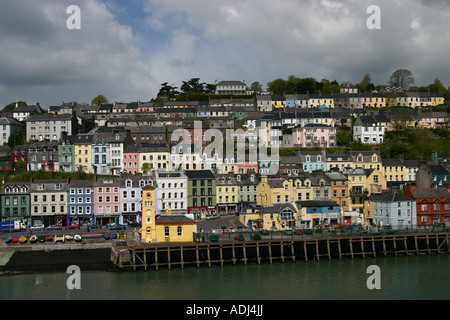 Cobh tidy pattern of neat houses on the seafront near Cork Ireland ...
