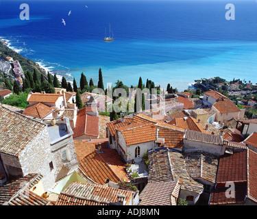FR - COTE D'AZUR: Village of Roquebrune Cap Martin - Stock Photo