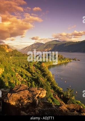 Columbia River near Hood River Oregon - Stock Photo