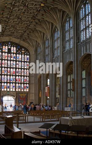 St Georges Chapel - Windsor Castle - Berkshire - Stock Photo