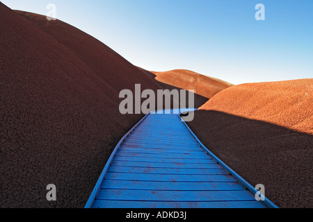 Blue Desert Walkway - Stock Photo