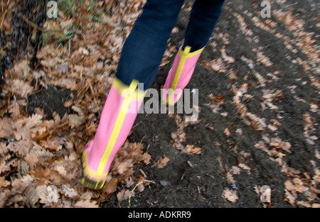 walk in the woods - Stock Photo