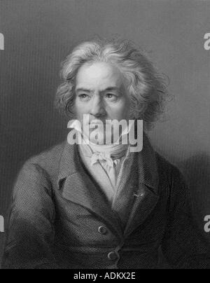 BEETHOVEN LUDWIG VAN BEETHOVEN German composer 1770 1827 - Stock Photo