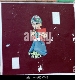 Graffiti Ancoats Manchester - Stock Photo