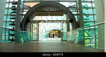 Arndale centre bridge Manchester - Stock Photo