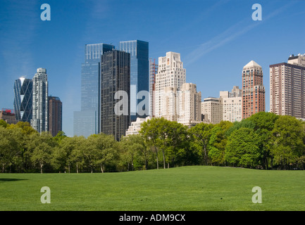 Sheep Meadow in Central Park - Stock Photo