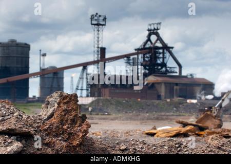 Redcar Steelworks Teesside Cleveland England UK - Stock Photo