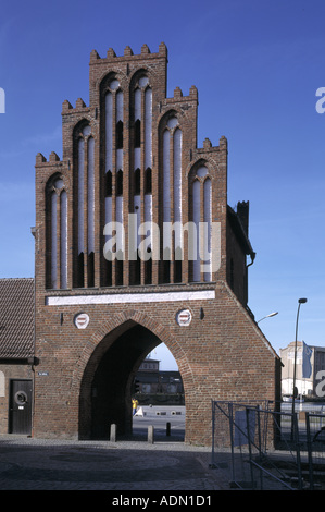 Wismar, Wassertor, Stadtseite - Stock Photo