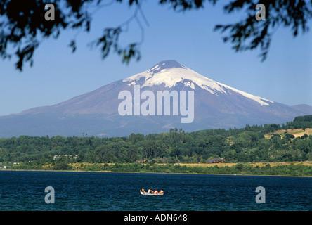 Villarica Volcano near Pucon Chile  - Stock Photo