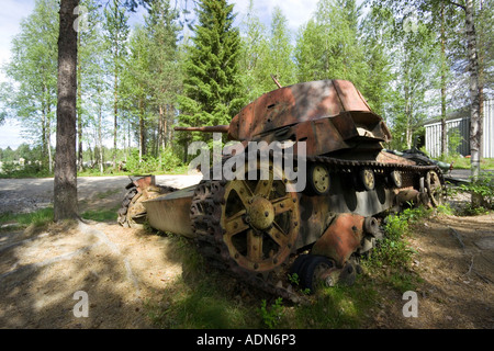 Old tank, Raate road, Finland - Stock Photo