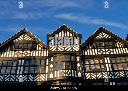 Chester Half timbered Tudor buildings in Bridge Street in the historic city the administrative city for the county - Stock Photo