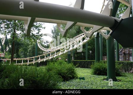 rollercoaster at Efteling theme park Kaatsheuvel Netherlands - Stock Photo