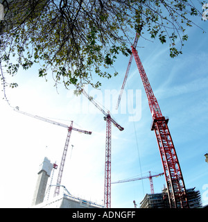 cranes quey street manchester - Stock Photo