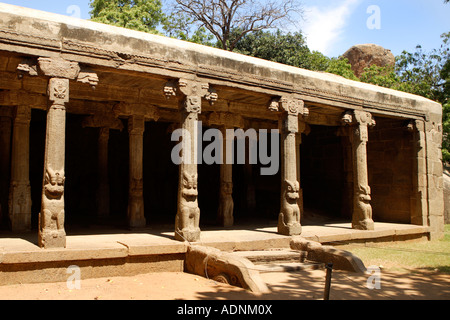 Mahabalipuram UNESCO World Heritage Site Near Chennai Tamil Nadu state India Asia - Stock Photo