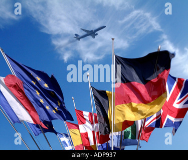 CONCEPT: The Flags of Europe - Stock Photo
