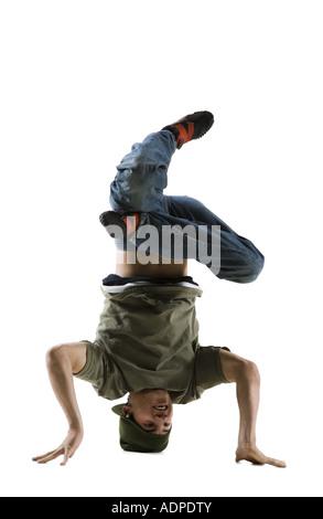 B-boy breakdancing - Stock Photo