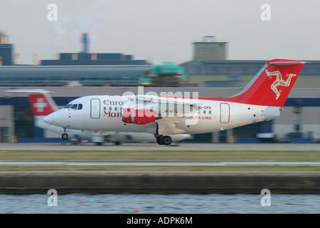EuroManx BAE Systems Avro 146-RJ70 - Stock Photo