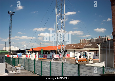 Paris France 'Street Scene' 'Batignolles Area' 'Old Warehouse' District Outdoors - Stock Photo