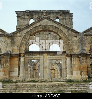 Church of St Simeon also known as Qalaat Samaan Syria - Stock Photo