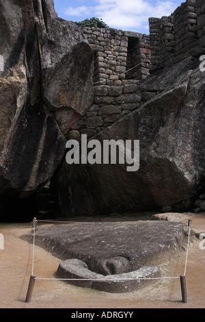 [Temple of the Condor], [Machu Picchu], Peru, 'South America' - Stock Photo