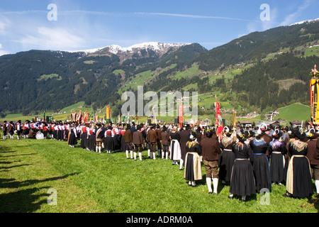 Gauder festival in Zell am Ziller Zillertal Tyrol Austria - Stock Photo