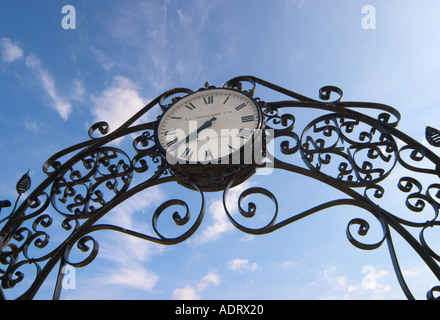 Clock at Prittlewell Square Essex England - Stock Photo