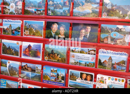 Picture postcards from Liechtenstein, Vaduz FL - Stock Photo