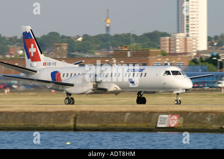 Swiss International Air Lines Saab 2000 - Stock Photo