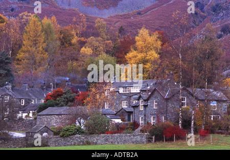 Elterwater Village Lake District National Park Cumbria - Stock Photo