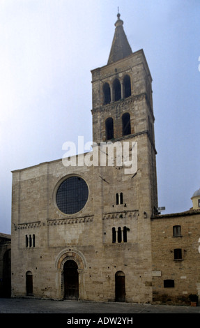 Saint Michael romanic church in Silvestri square in Bevagna city, Perugia county, Umbria region, Italy - Stock Photo