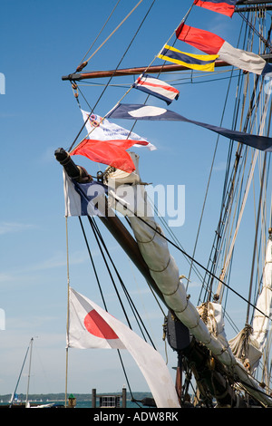 2007 The Old Gaffers Festival, Yarmouth, Isle of Wight, Hampshire, England, Britain, UK, Europe - Stock Photo