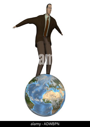 Symbol for the globalization in the economy and the dominance of the economy in the world - Stock Photo