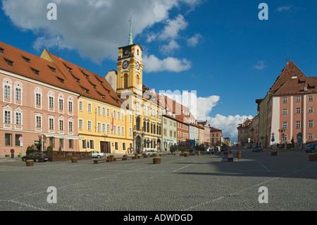 Czech Republic Cheb King George of Podebrady Square - Stock Photo