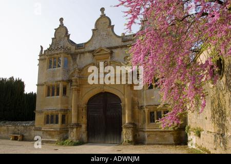 Gatehouse of Stanway House Gloucestershire United Kingdom - Stock Photo