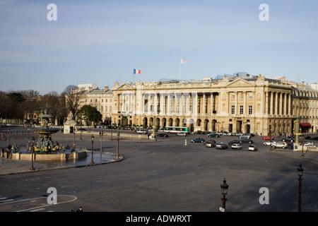 Hotel de Crillon in Place de la Concorde Paris France - Stock Photo