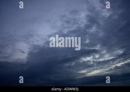 Stormy sky Norfolk England United Kingdom - Stock Photo