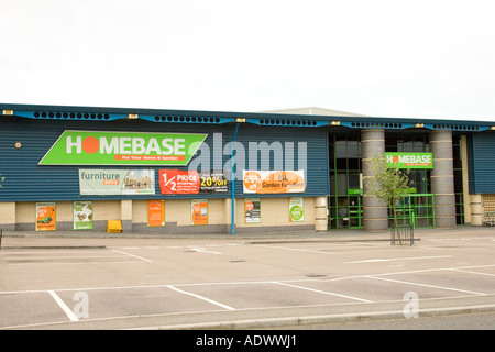 Homebase store at a retail park in Bury St Edmunds in Suffolk, UK - Stock Photo
