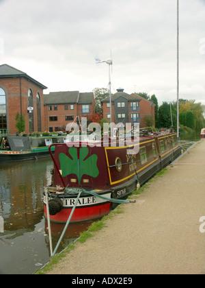 Narrowboats at Fazeley in Staffordshire. - Stock Photo