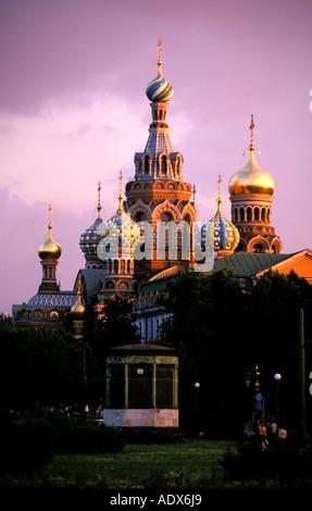 St Petersburg church of the bleeding savior - Stock Photo