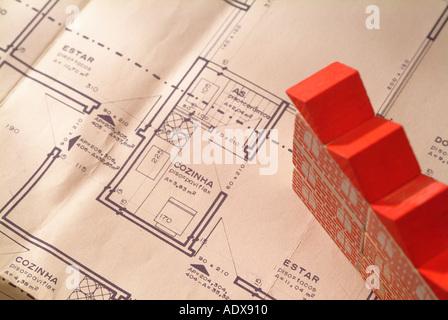 Architecture blueprint blocks toy model building roof plan scheme architecture blueprint blocks toy model building red roof plan scheme diagram project concept conceptual background malvernweather Choice Image