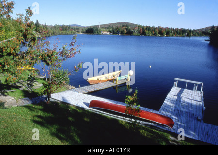 view on Lake Laurentides, Canada, Montreal - Stock Photo