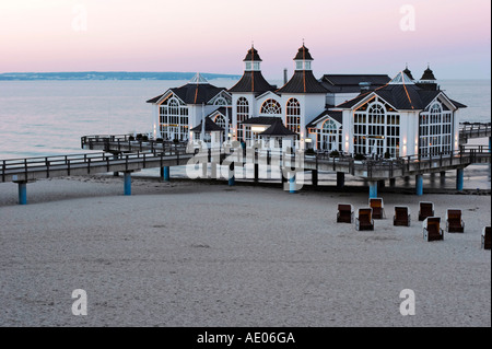 Sellin Seebruecke City of Sellin landing place, isle ruegen, germany, east sea - Stock Photo