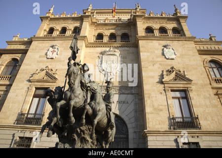 Academia de Caballeria in Plaza Zorrilla Square, Valladolid, Castile and Leon, Spain - Stock Photo
