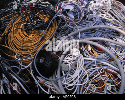 Copper wires for recycling at scrap metal yard Stock Photo: 53267620 ...