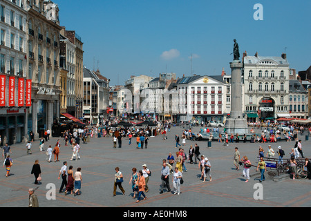 The Déesse (symbol of the city) (Lille-Flanders-France) - Stock Photo