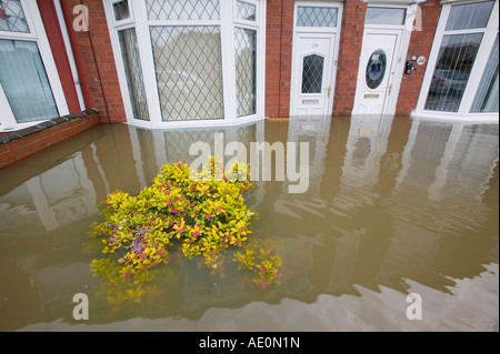 The floods in Toll Bar near Doncaster, South Yorkshire, UK - Stock Photo