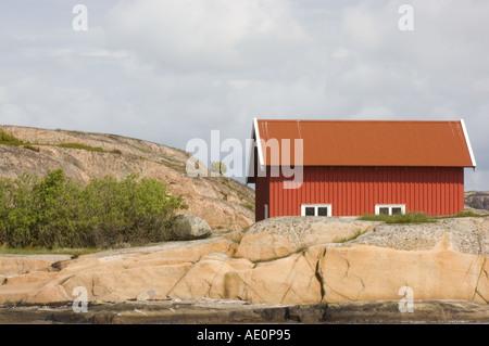 Sweden, Fjallbacka, Boathouse - Stock Photo