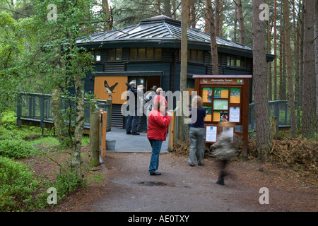 The entrance to Loch Garten RSPB centre Scotland - Stock Photo
